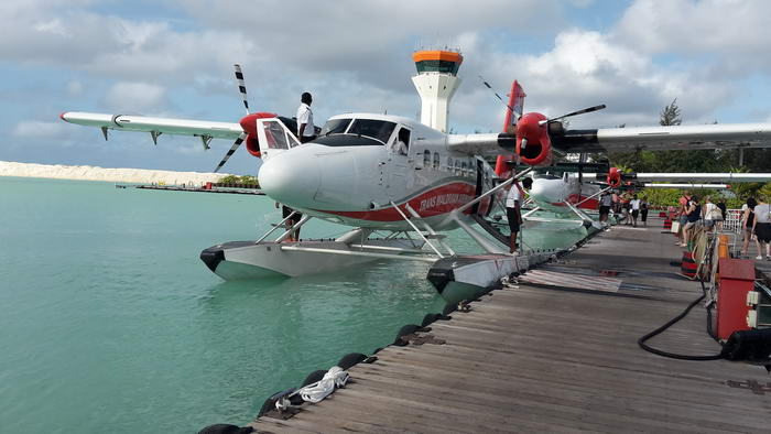 L'hydravion reste le mode de transport par excellence des Maldives.