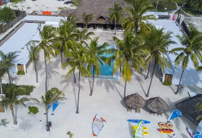 Autre club de plongée de référence sur la côte Est, l'hôtel The Loop Beach Resort 2*Sup à Jambiani